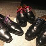 黒の革靴のケアは簡単ではない。